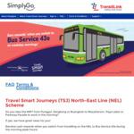 Travel Smart Journeys (TSJ) North-East Line (NEL) Scheme($1.50 in points per trip)