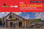 10% Cashback at Participating Stores at The Rail Mall with FavePay Payments