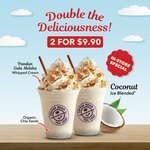 2 Coconut Ice Blended Drinks for $9.90 at The Coffee Bean & Tea Leaf