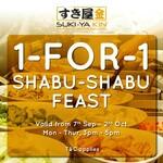 1 for 1 Shabu Shabu at SUKI-YA (VivoCity, 3pm to 5pm Daily)