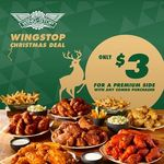 $3 Premium Side with Any Combo Purchased at Wingstop
