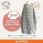 Free Nursing Cover (U.P. $29.90) with $60+ Spend on Cherub Rubs at Guardian