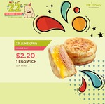 Mr Bean $2.20 Eggwich Today Only (U.P. $3.50)