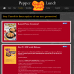 $5 off Pepper Lunch Coupon after Buying 24x200mL Ribena Carton