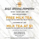 Free Medium Milk Tea (First 200) or Otherwise $1 (Next 100) at Sharetea (Bugis) [Wednesday 2nd to Friday 4th May, 6pm to 9pm]