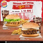 Hainanese Tendergrill Chicken or Rendang Beef / Tendergrill Chicken Meal for $5.30 (U.P. $7.95) at Burger King