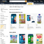 $10 off ($50 Min Spend) on Baby Food at Amazon SG