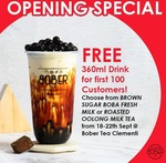 Free Milk Tea from Bober Tea (Clementi)