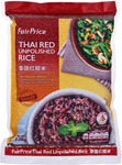 Buy 1 Double FP Thai Hom Mali Premium Quality Fragrant Rice + 1 FairPrice Thai Red Unpolished Rice for $24.85 from Fairprice
