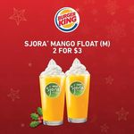 2x Medium Mango Floats for $3 at Burger King