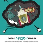 1 for 1 Venti-Sized Irish Cream Coffee Pudding/Matcha Earl Grey Jelly Frappuccinos at Starbucks (12th to 14th June)