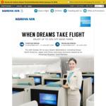 10% off Economy Class 15% off Business Class, 20% off First Class Airfares @ Korean Air Via AmEx