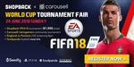 Win $750, $500, $150 or $100 from ShopBack/Carousell (World Cup Tournament)