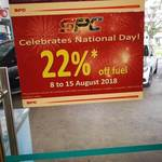 22% off Fuel at SPC