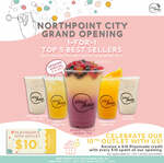 Playmade Yishun Opening: 1-for-1 Top 5 Best Sellers drinks, $10 voucher for every $10 spend (Northpoint City, South Wing)