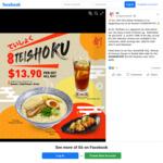 Teishoku (Tonkotsu Ramen, Crispy Chicken Gyoza and Iced Lemon Tea) for $13.90 at So Ramen
