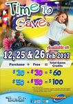 Timezone Singapore: Double Dollars - Purchase $60 Credit for $30 or $100 Credit for $50 (12th, 25th and 26th February)