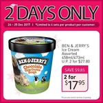 2x Ben & Jerry's Assorted 458ml/473ml Ice Cream Tubs for $17.95 at FairPrice [Free Umbrella + Cooler Bag + Extra $3 off Online]