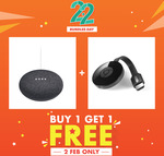 Google Home Mini + Google Chromecast 2 for $103 Delivered from PlayTrends via Shopee