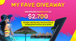 Win an SQ Flight for 2, 2DN1 Bali Villa Stay for 2, 1 of 30 Pairs of Movie Tickets or 1 of 30 $20 Shopping Vouchers from Fave
