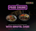 Free Drink with Any Rice or Noodle Bowl Purchase at Fook Kin (Singtel Dash)