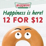 12 Original Glazed Doughnuts for $12 at Krispy Kreme