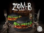 1 for 1 Zom-B Halloween Black Bun Burgers at Burger King