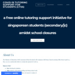 Free online tutoring support initiative for singaporean students (secondary/jc) amidst school closures
