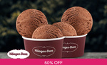 1 for 1 Double Scoop Ice Cream ($10.90) at Häagen-Dazs via Fave