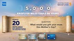 Win 5,000 KrisFlyer Miles (20 Winners) from American Express