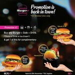 Free Chunky Fries with Any Burger & Drink Purchase at Burger+ (Wisma Atria/Clarke Quay Central)