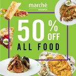 50% off All Ala Carte Food at Marché Mövenpick (Monday to Thursday, 3pm to 6pm)