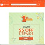 $5 off Sitewide at Shopee ($30 Minimum Spend, DBS/POSB Cards)
