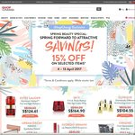 15% off Selected items at iShopChangi (e.g. Urban Decay Naked 3 for $63.75, Clinique 3 x Moisturising Lotion for $104.55)