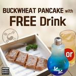 Free Drink with Purchase of Buckwheat Pancake at Baro Baro