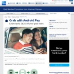 $5 off All Grab Rides (American Express Cards via Android Pay)
