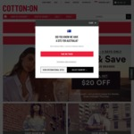 Spend $70 and Get $20 off at Cotton On (Online Only)
