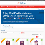 Click & Collect at FairPrice and Receive a $3 off $10 Coupon In-Store