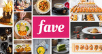 20% off Beauty & Spa, 15% off Activities & Services and 5% off Dining at Fave (previously Groupon)
