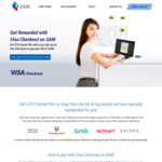 $10 E-voucher for new Singpost SAM users with Visa Checkout