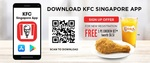 Free 1pc Chicken and Regular SJORA for New Sign Ups at KFC (via App)