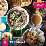 15% off ($15 Minimum Spend) at Pho Street via foodpanda