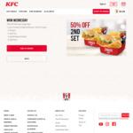 50% off 2nd Zinger Box Set at KFC (Wednesdays)