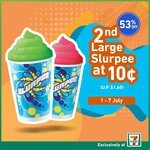 Buy a Large Slurpee for $1.60, Get Another for $0.10 at 7-Eleven