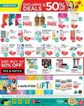 3% Cash Rebates on All Purchases at Watsons (Pay with a POSB Everyday Card)