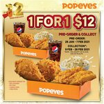 1 for 1 Chicken Boxes ($12) at Popeyes