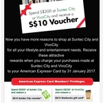 Spend $200 at Vivo City or Suntec and Get a $10 Voucher with AmEx
