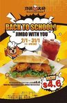 Jimbo Run Away Sandwich & Roselle Tea Combo for $4.60 (U.P. $5.60) at Fried Chicken Master (1pm to 4pm Daily)