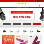 Crocs - Free Shipping Sitewide (No Minimum Spend), Combine with up to 50% off Sale