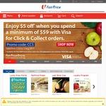 $5 off at FairPrice (Click & Collect, $59 Minimum Spend)